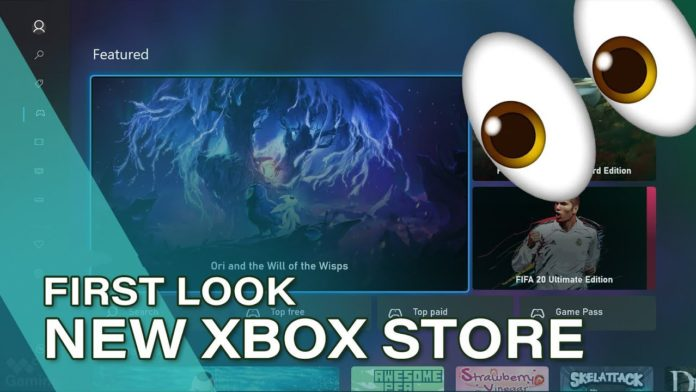 Pictures of the new Xbox Store for consoles codenamed 'Mercury' have leaked
