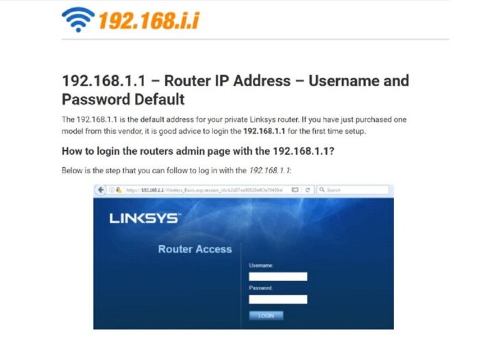 192-168-i-i.com - Portal that updates information about network devices